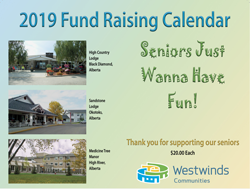 2019 Senior Lodge Fundraising Calendar